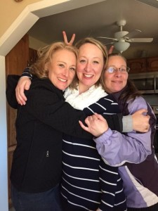 Me with my older sister and mom today.