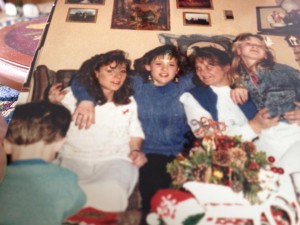 My older sister, me, mom and my younger sister. (Baby brother is in front.)